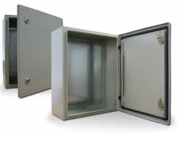 Water &  Dustproof metal enclosures for electrical equipments.