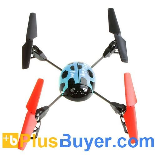 Beetle 4 Channel RC Remote Control Helicopter with 2.4G Transmitter - Blue