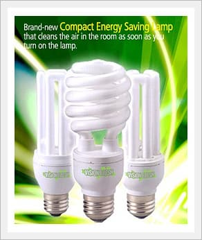 Energy Saving Lamp, FRESH LIGTE Air Cleaner Lamp CFL