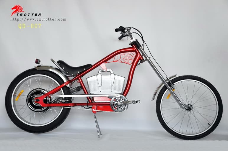 chopper electric bicycle qd 007 electric bike ebike e bike. Black Bedroom Furniture Sets. Home Design Ideas