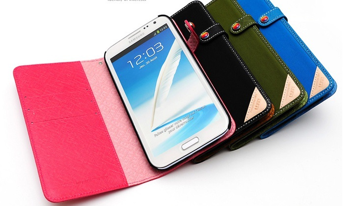 Smartphone Case with leather & Cordura fabric