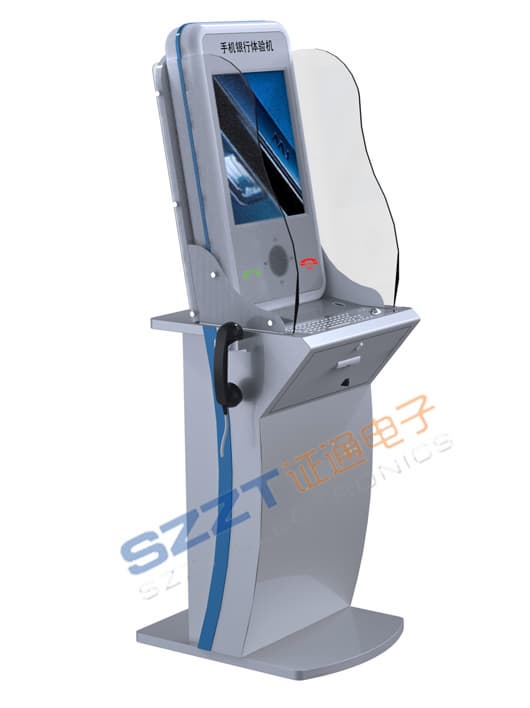 ZT2113 Free standing Information/Financial/Banking Kiosk with RFID card reader,<strong>Metal</strong> keyboard