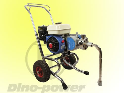 4hp gasoline engine powered airless painting pump & airless spray gun set, belt-drive .