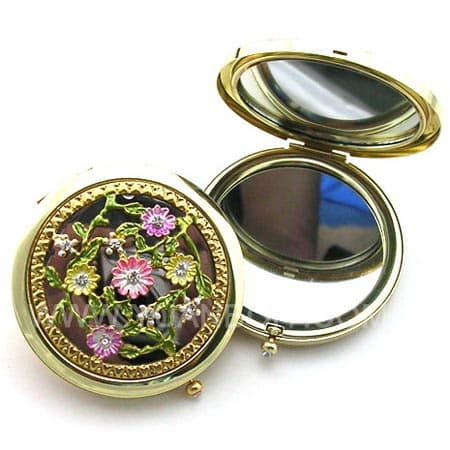 metal compact mirorrs/metal make up mirrors/pocket mirrors/