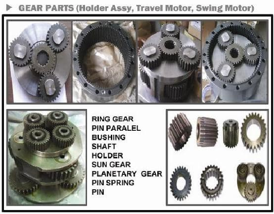 Excavator Spare Parts SWING MOTOR for Hyundai, Doosan, Volvo