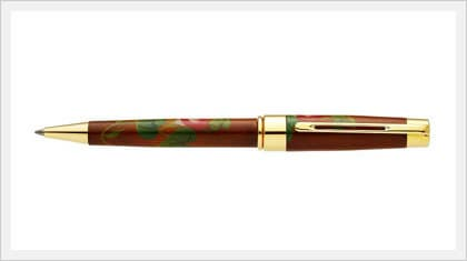 Lacquered Wooden Ball Point Pen (Morning Glory)