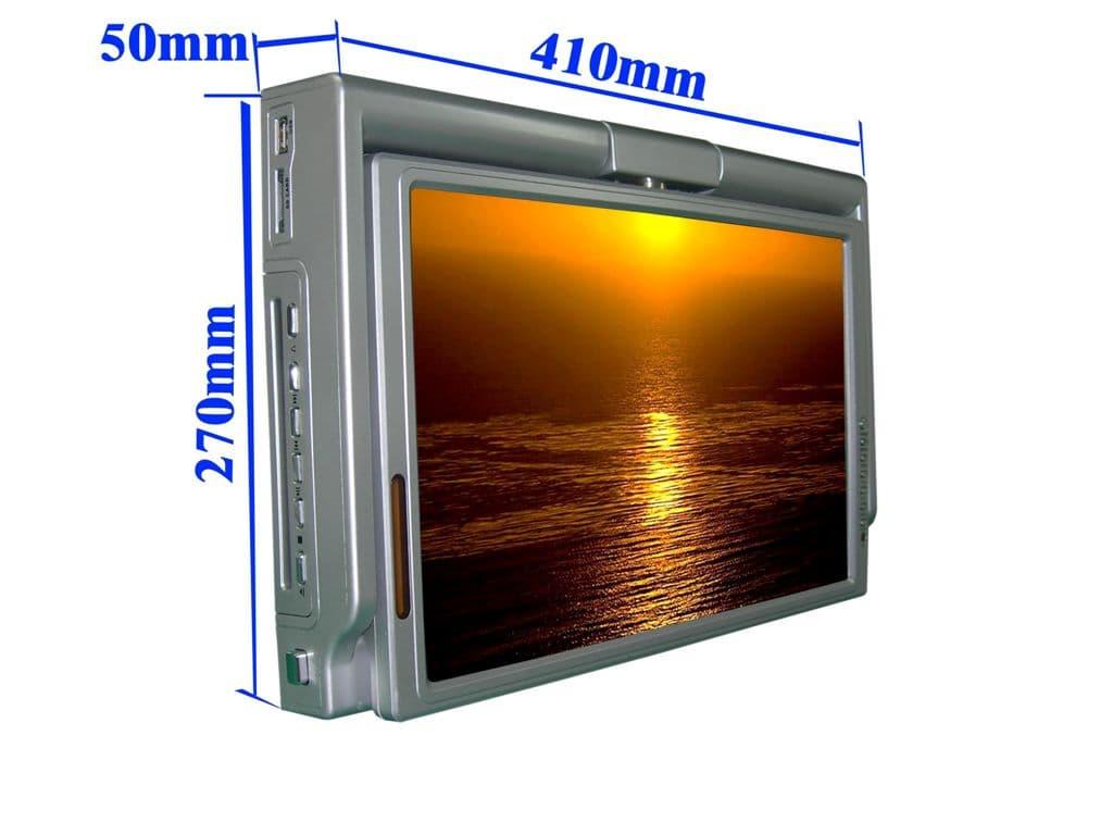Kitchen Dvd Player ~ Urtra slim inches flip down kitchen tv with dvd