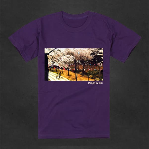 T shirt cotton blossom korea picture unisex from eve for T shirt design upload picture