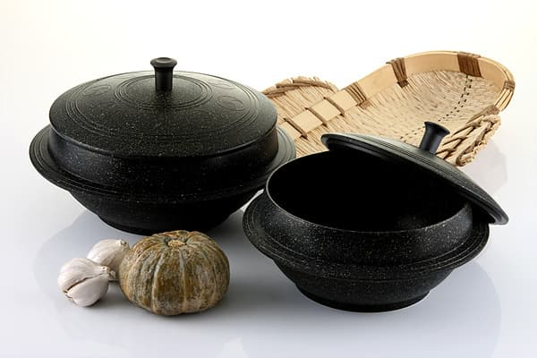 Korean traditional pot (Caldron, casserole, dutch oven, Marble coating)