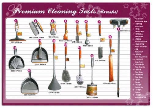 Cleaning tools names for Garden implements list