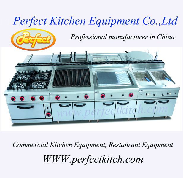 Kitchen equipmet: commercial cooking range for restaurant ...