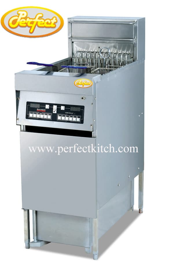 Electric digital fryer computer fryer with oil filter for Perfect kitchen equipment