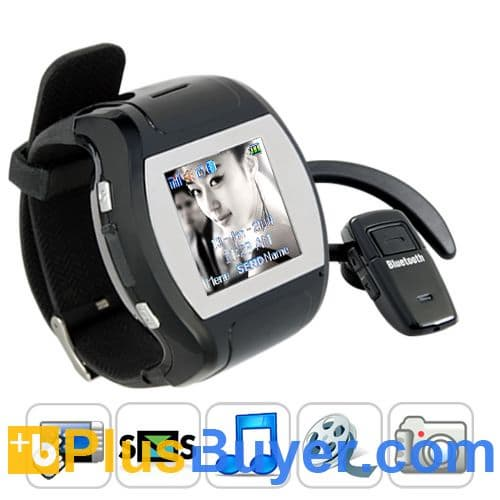 "Grande Porto - 1.5"" Touchscreen Cell Phone Watch (850mAh, Quad Band)"