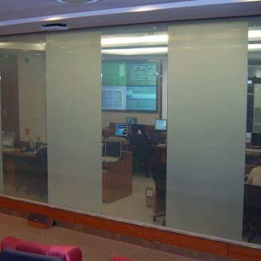 door window magic glass film construction the interior