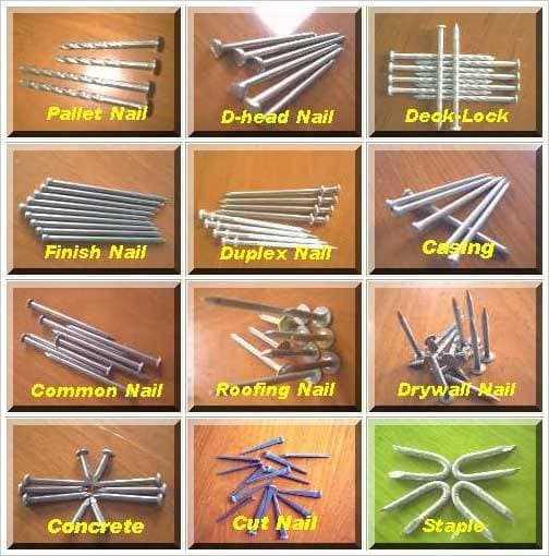 Nails for collating & loose nails