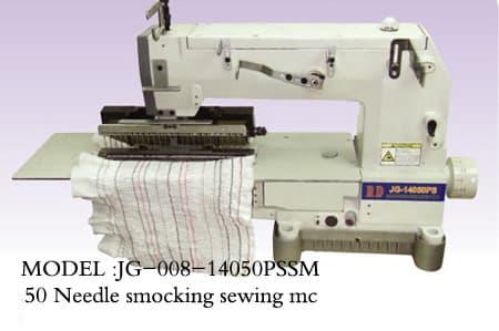 008 series 50 needle smocking sewing machine   tradekorea