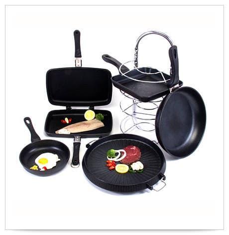 Coren cast-iron frying pan set (9pcs)