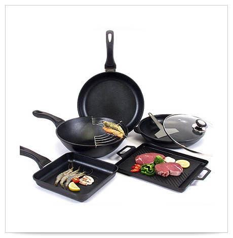 Coren SF cast-iron frying pan set