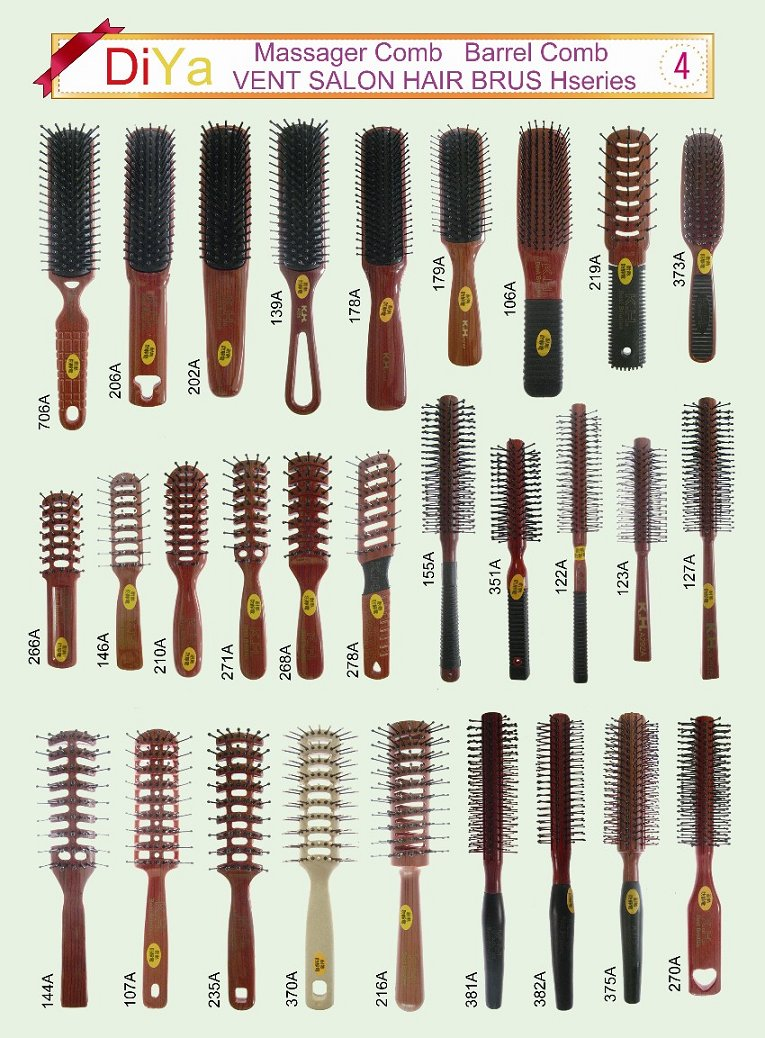Hair Massager Brush Combs Barrel Hair Brush Comb Vent