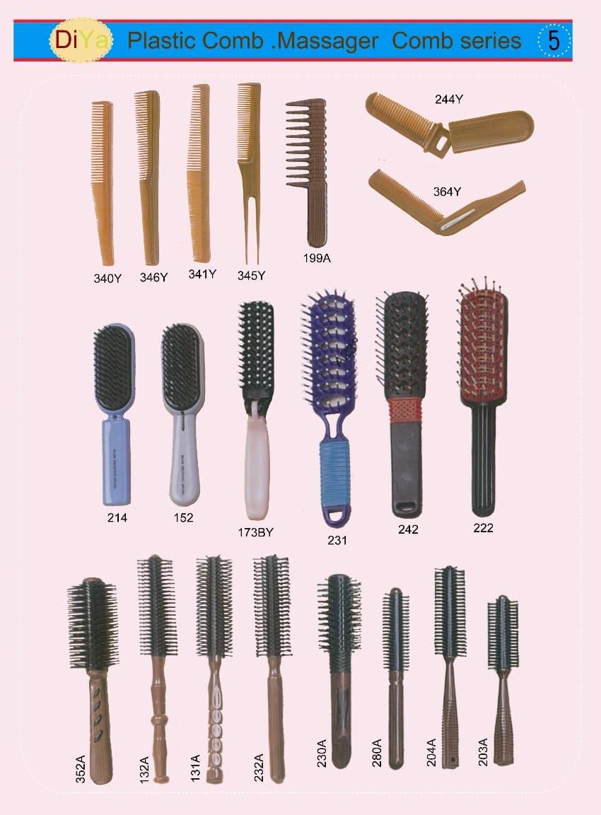 Plastic Combs Hair Massager Brush Comb Barrel Hair Brush
