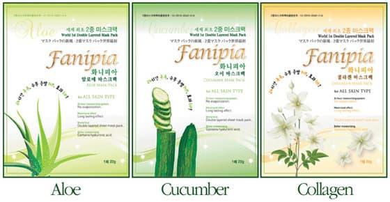 Fanipin Double Layered Mask Pack(Aloe, Cucumber, Collagen)