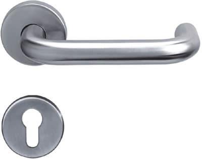 Stainless steel tubing door lever handle