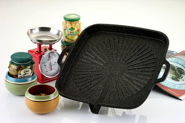 Marble coated Roast pan#2(roasting pan)-Square shape