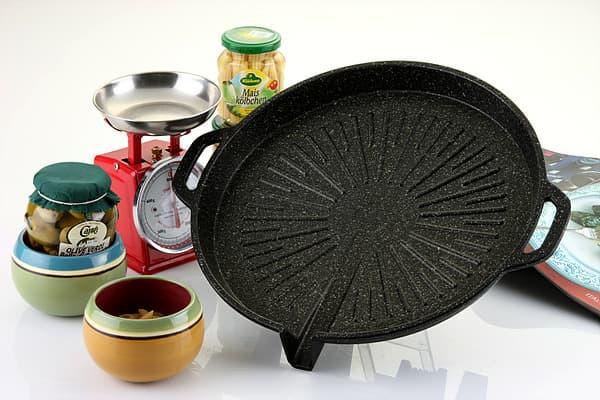Marble coated Roast pan#2(roasting pan)-Round shape