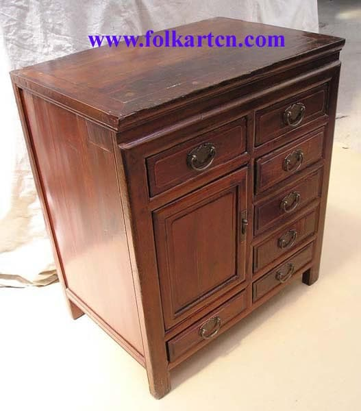 Sc 183p7 antique right side drawer bedside cabinet for Chinese furniture wholesale