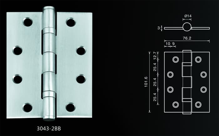 stainless steel door hinge from Foshan Gangba Hardware Products Co ...