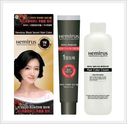 Hemirus Black Secret Hair Color Cream from Woosincosmetics Co ...