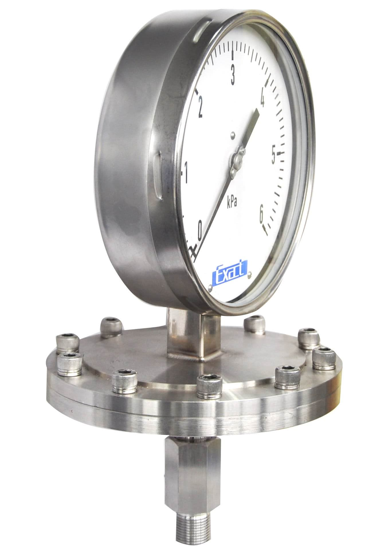 Pressure Measuring Instruments : Diaphram pressure gauge al from exact instrument co ltd