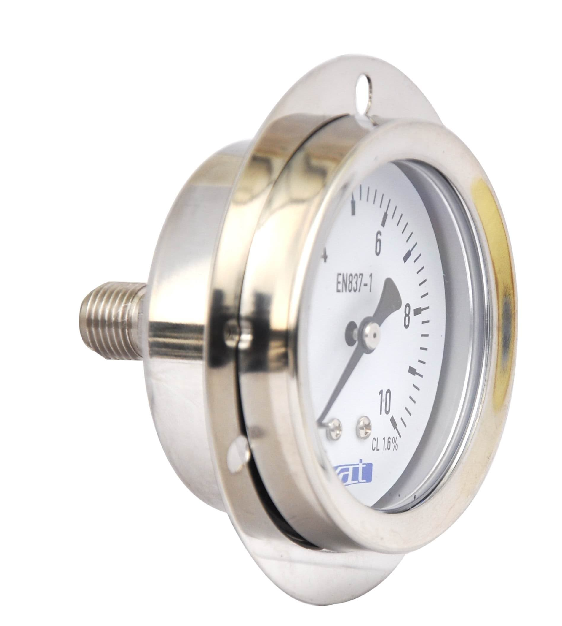 Pressure Measuring Instruments : Stainless steel liquid filled pressure gauge cv from