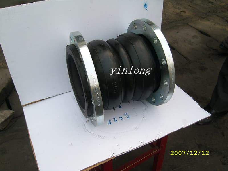 Flexible double ball rubber expansion joint from gongyi