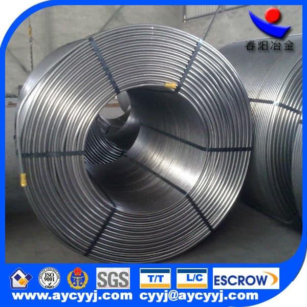 CaSi/SiCa /calcium silicon cored wire, silicon calcium core wire manufacturer in china