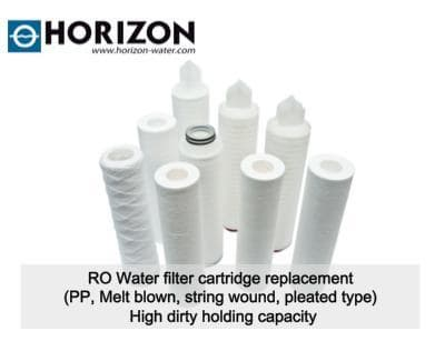RO Water filter cartridge replacement