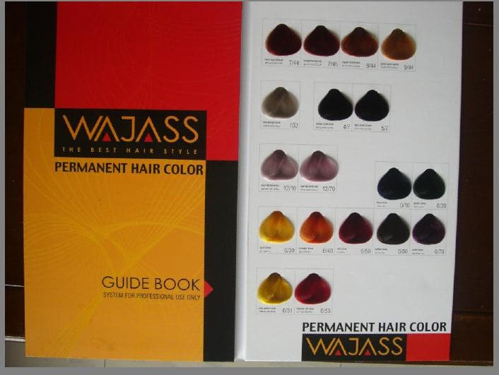 hair color swatch. hair swatch color