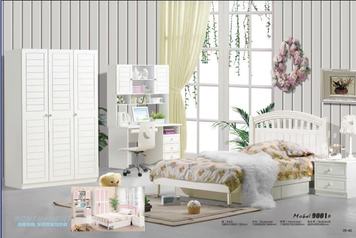 white mdf children kids bedroom furniture set from bridgesen