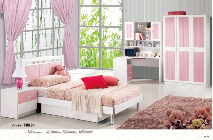 White MDF Children / kids Bedroom Furniture Set from Bridgesen ...