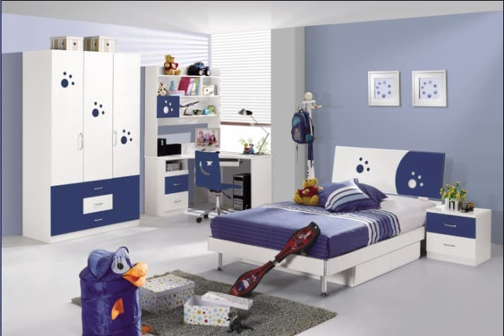 blue mdf boy bedroom furniture set from bridgesen furniture b2b