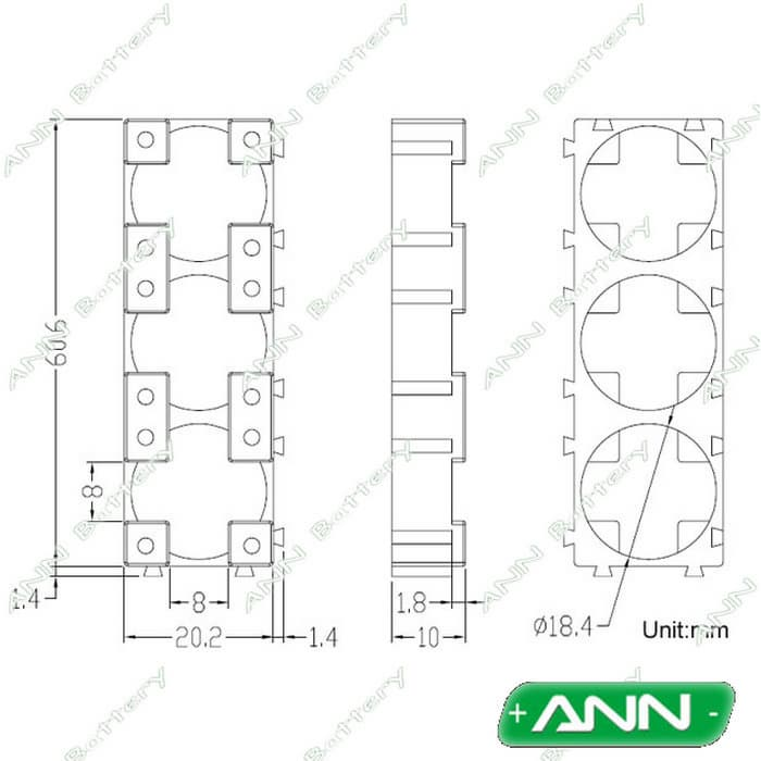 18650 battery holder cell bracket 3p from ann power technology  hk  co  limited b2b marketplace