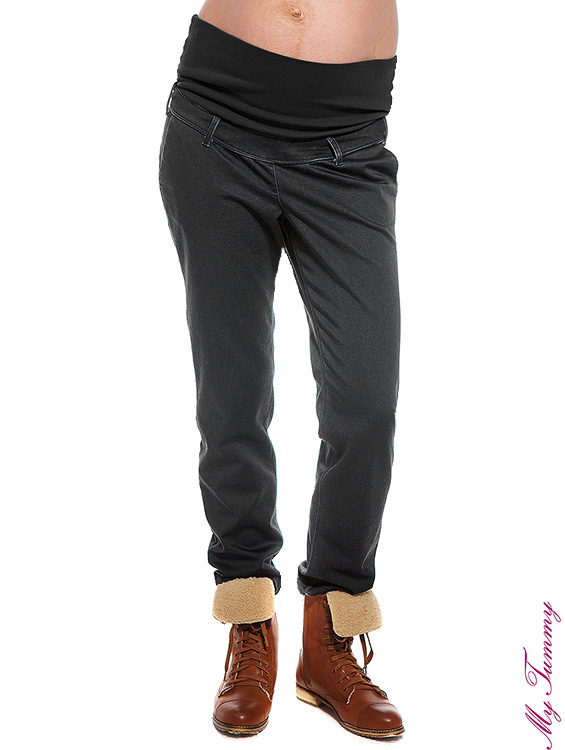 ubrania ciazowe spodnie ciazowe chino szare przod.jpg