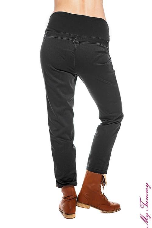 ubrania ciazowe spodnie ciazowe chino szare tyl.jpg