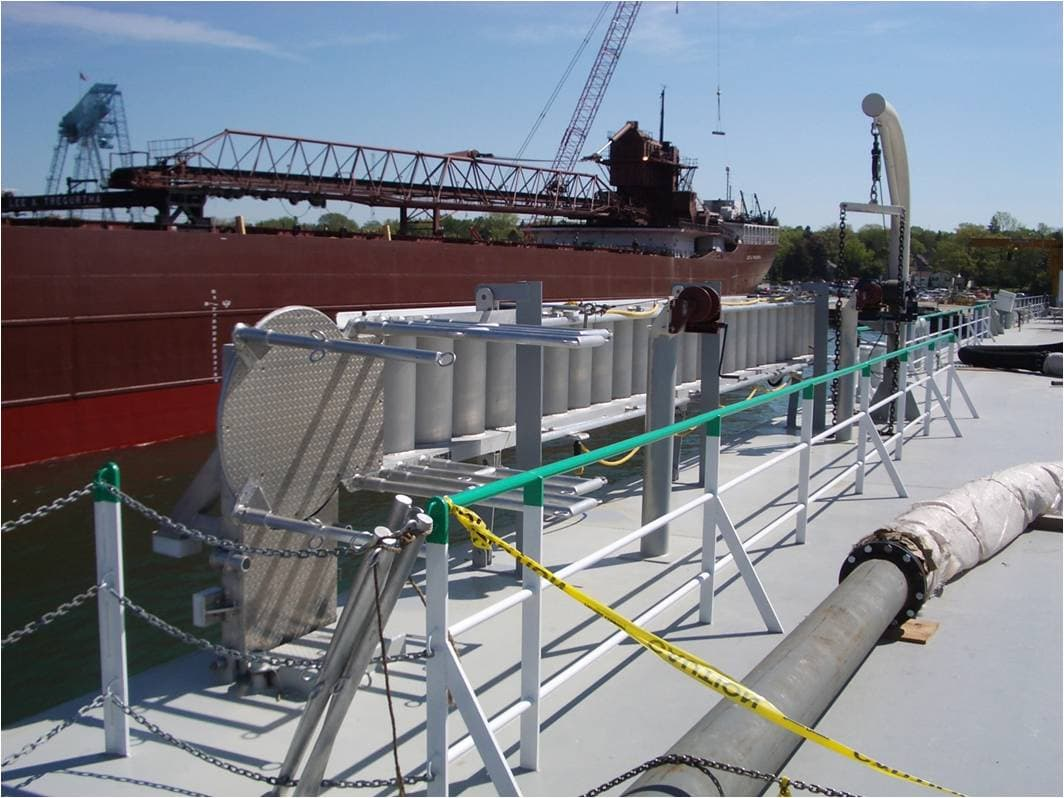 The Ship Gangway And Accommodation Ladder From Ijin Marine