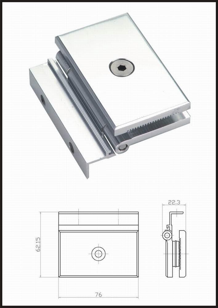 Aluminium glass door hinge from foshan zhianda steel and for Window hinges