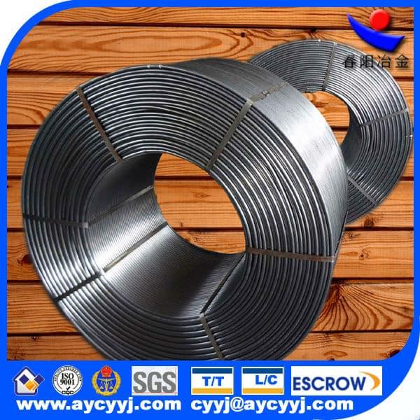 high standard SiAlBaCa cored wire manufacturer/ferro alloy cored wire/steel core wire