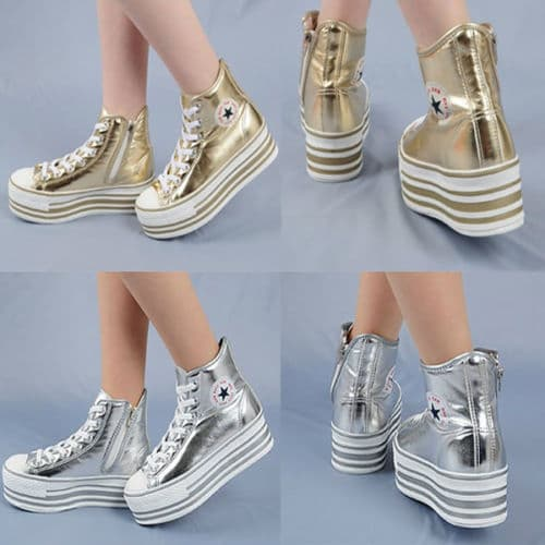 Low Top Sneakers Platform Heels C50 TC