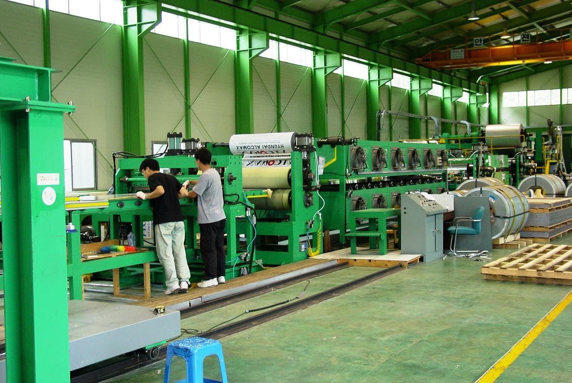 Aluminum Composite Panel Manufacturers : Aluminium composite panel mfg line from plama worldwide