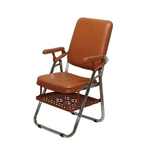 Awe Inspiring New Type Folding Chair W Arm Rest And Under Rack Tradekorea Creativecarmelina Interior Chair Design Creativecarmelinacom