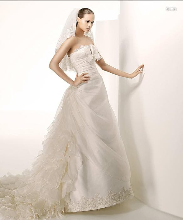 Elegant Sell White Sexy Wedding Dress